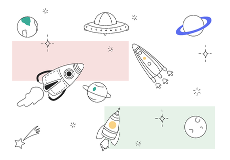 essential hubspot integrations - image of spaceships
