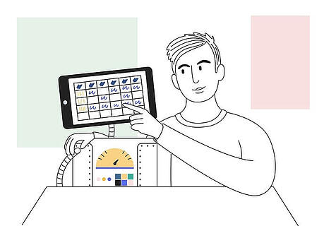 How to increase organic traffic: 11 top SEO tips - image of an SEO specialist pointing at graphs on a touch screen