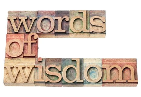 Words of wisdom in wood blocks