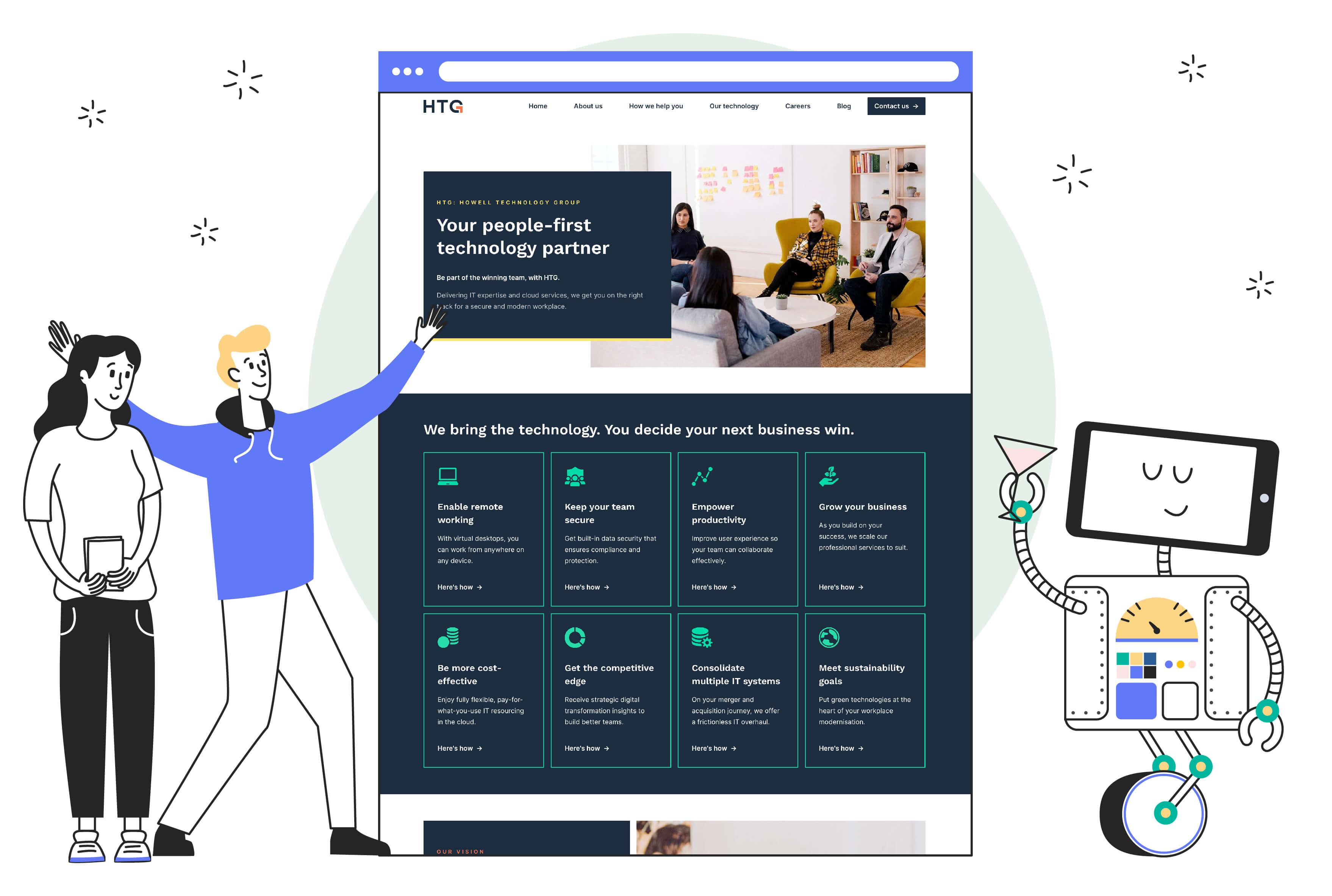 Articulate Marketing Case Study - A winning HubSpot website for HTG - Celebrating-a-winning-website
