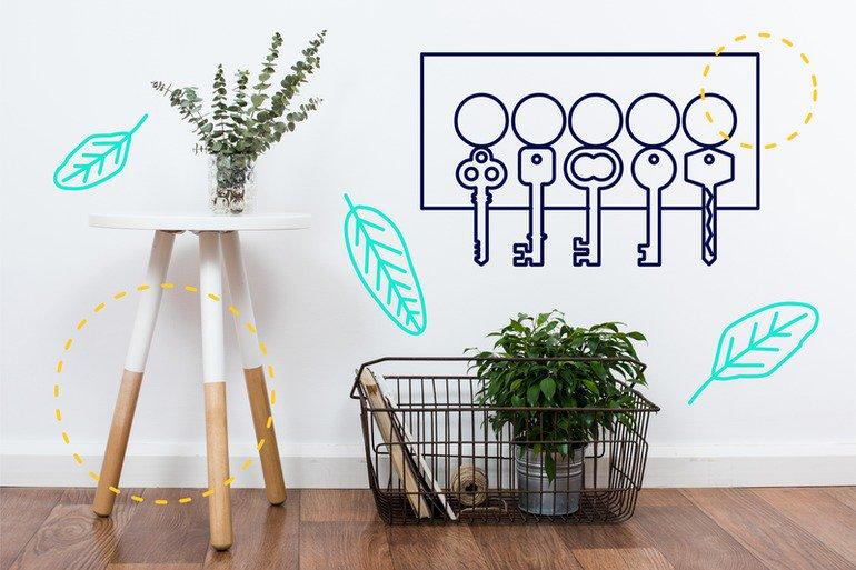 Articulate-The complete 'how to' guide to keyword optimisation - illustration showing keys on a wall