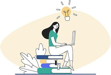 Essential ingredients for any marketing plan - image shows woman making a marketing plan on her laptop