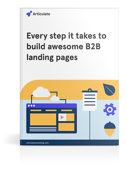 Every step it takes to build awesome B2B landing pages cover-mockup