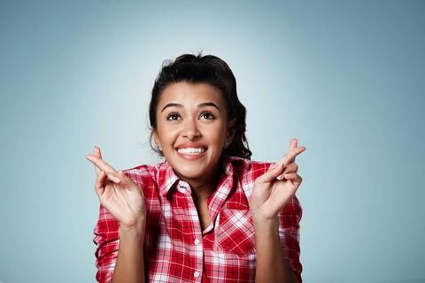 How to get the job you relly want - woman crossing fingers