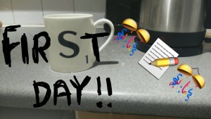 world's best intern: first day snapchat
