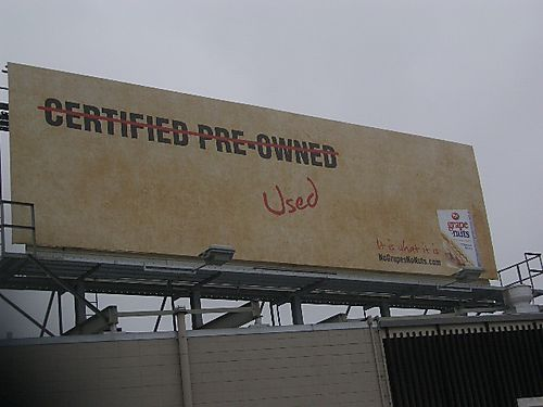 Billboard with slim copy