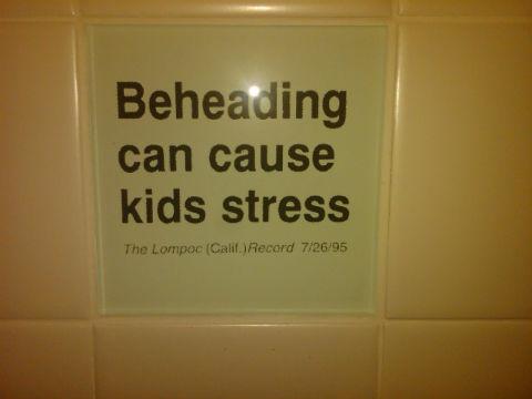Bad headline 'Beheading can cause kids stress'