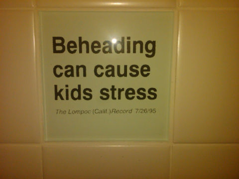 Bad headline 'Beheading can cause kids stress'