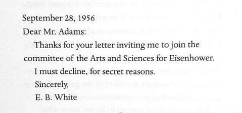 EB White letter