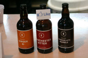 Social proof in marketing: Facebook like on beer bottle