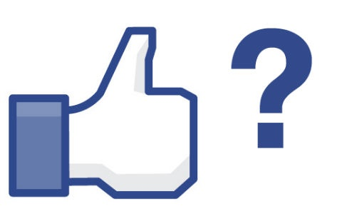 Facebook share or like sign and question mark