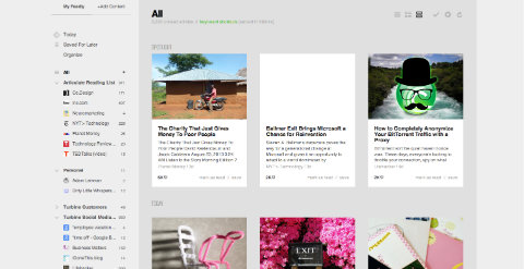 Feedly blog reader