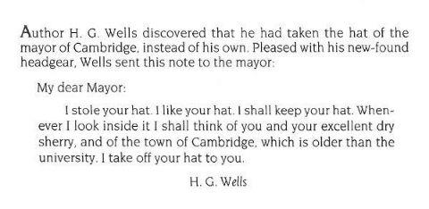HG Wells letter
