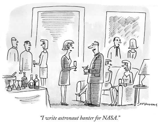 'I write astronaut banter for NASA' cartoon