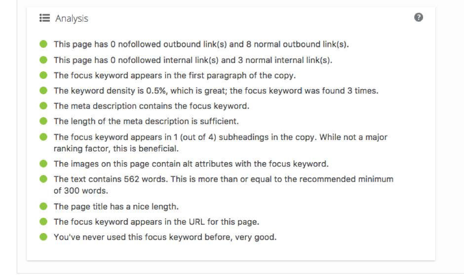 On-page SEO using Yoast WordPress plugin