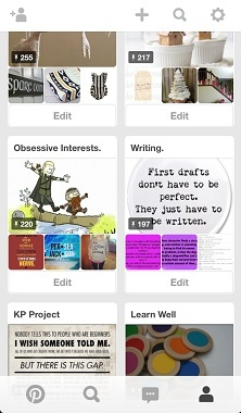 Pinterest as a marketing tool: Pinterest boards