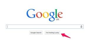 Google 'I'm feeling lucky' button