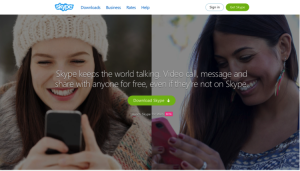 Brand guidelines: Skype download page