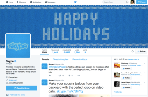 Brand guidelines: Skype Twitter page