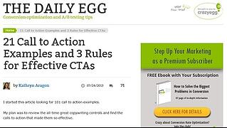 Call-to-action from The Daily Egg