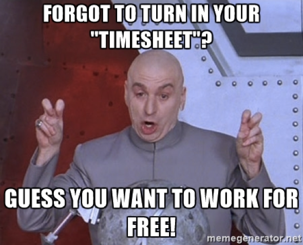 Timesheets are evil