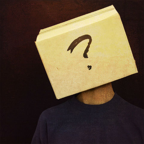 10 writing tips to standing out with your personal social media bios. Picture shows person with a box on their head with a question mark drawn on it.