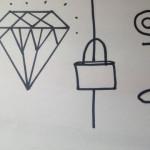 diamond locked away