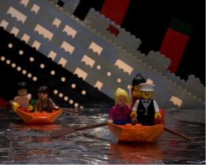 provocative questions: Lego sinking titanic