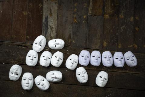 Masks representing personas