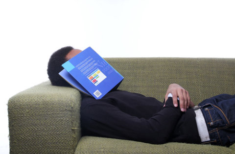 Man sleeping while working from home
