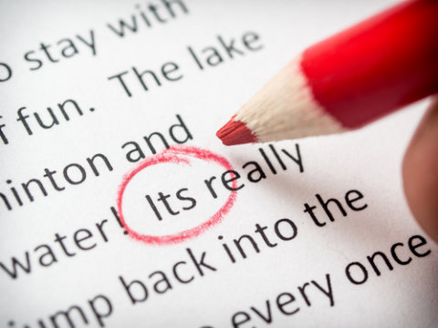 Proofreading checklist mistake