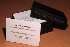 Picture of Oblique Strategies cards - marketing strategies
