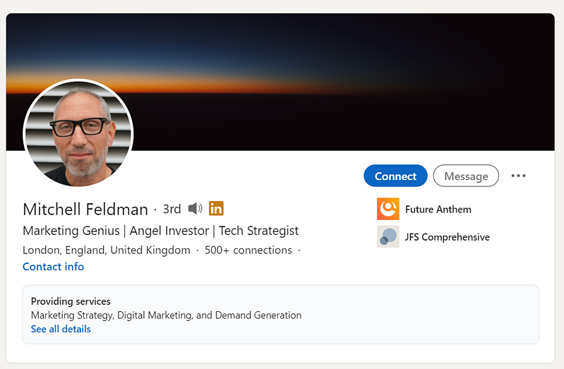 LinkedIn social selling profile 6 - Mitchell Feldman