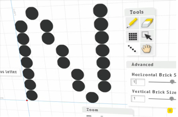 Fontstruct example screen - writing tools