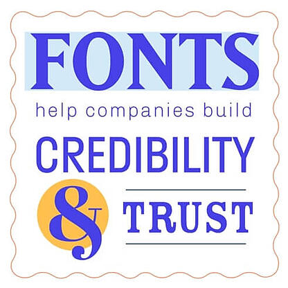 Quote on fonts and credibility
