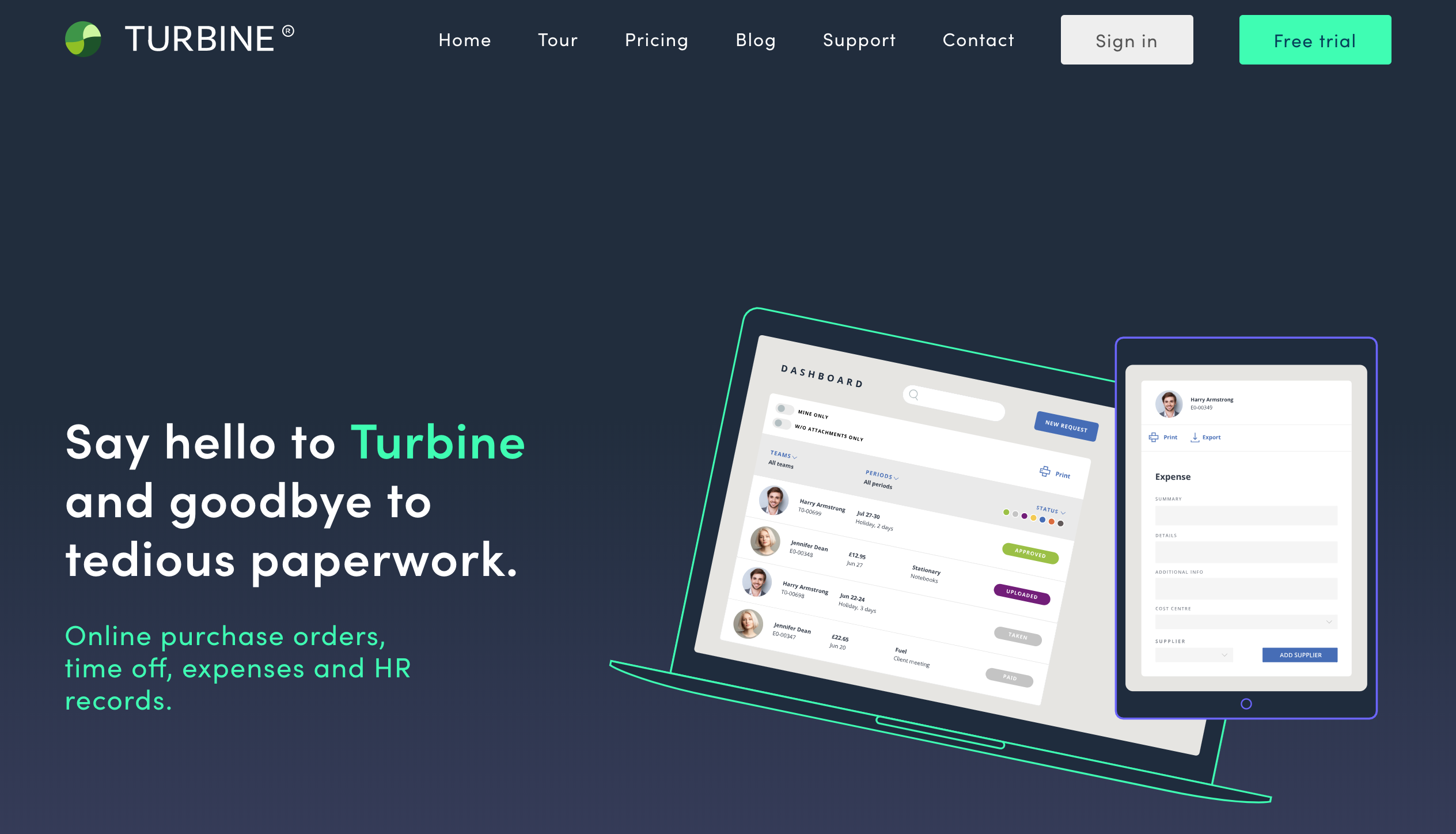 Turbine's 2018 home screen