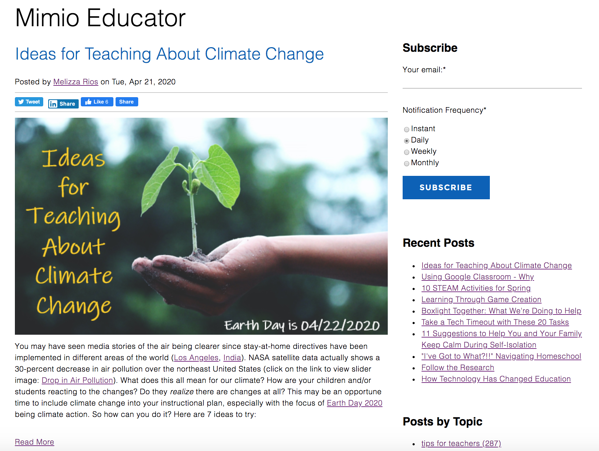 The Mimio Educator blog