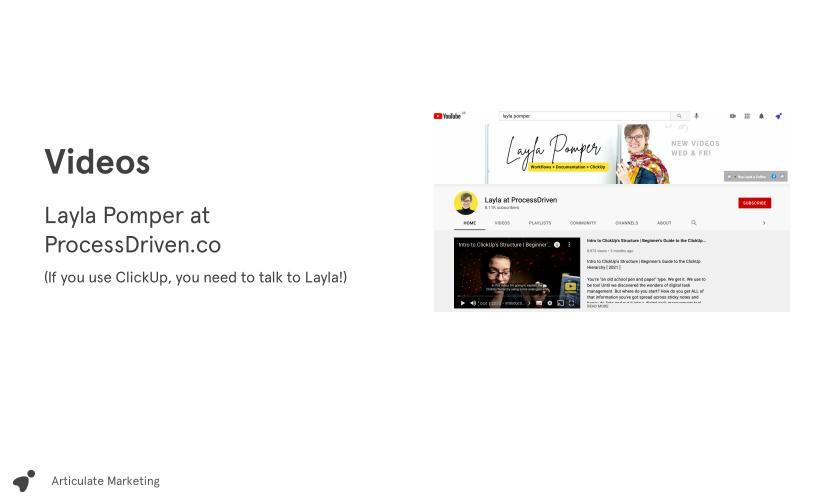 Screenshot of thought leadership slide