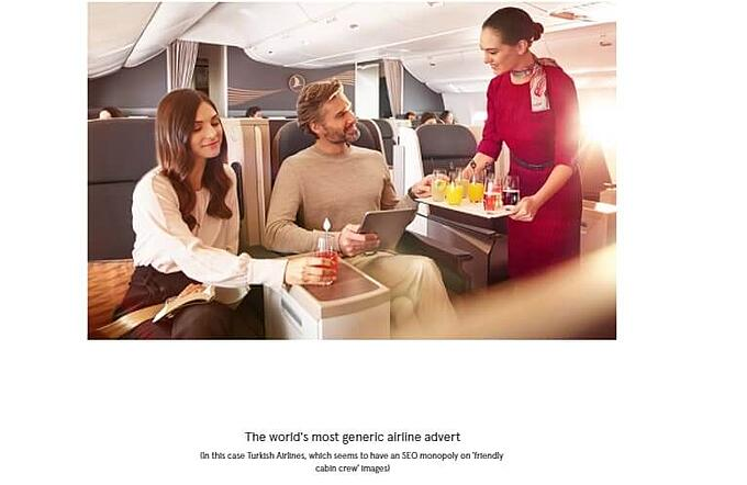 The difference between differentiation and me-too blah-blah - turkish airlines advert