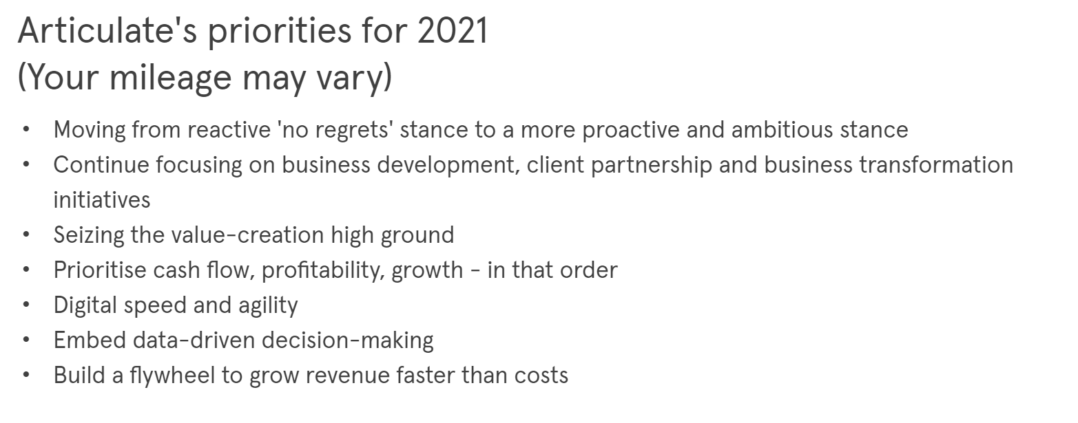 COVID-19 and beyond: scenario planning for marketers - Articulate priorities
