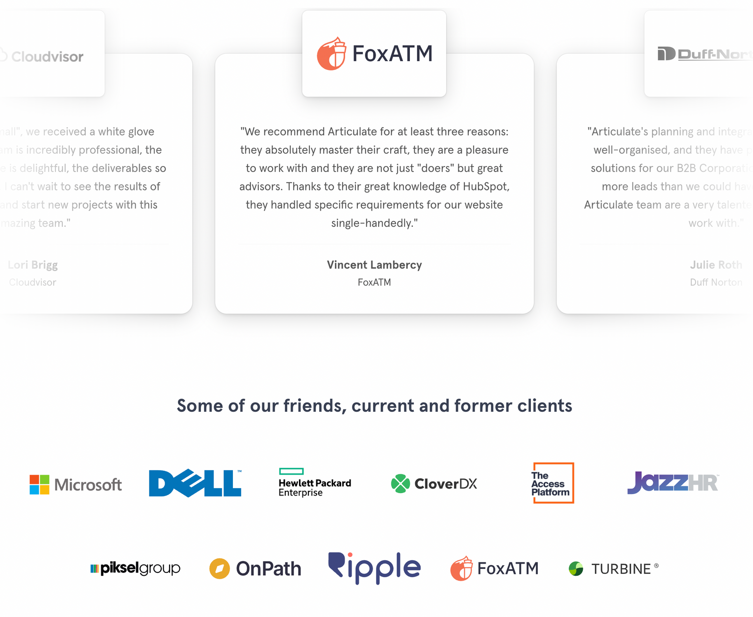 Why your contact page doesn't generate any actual contacts - testimonials and client logos
