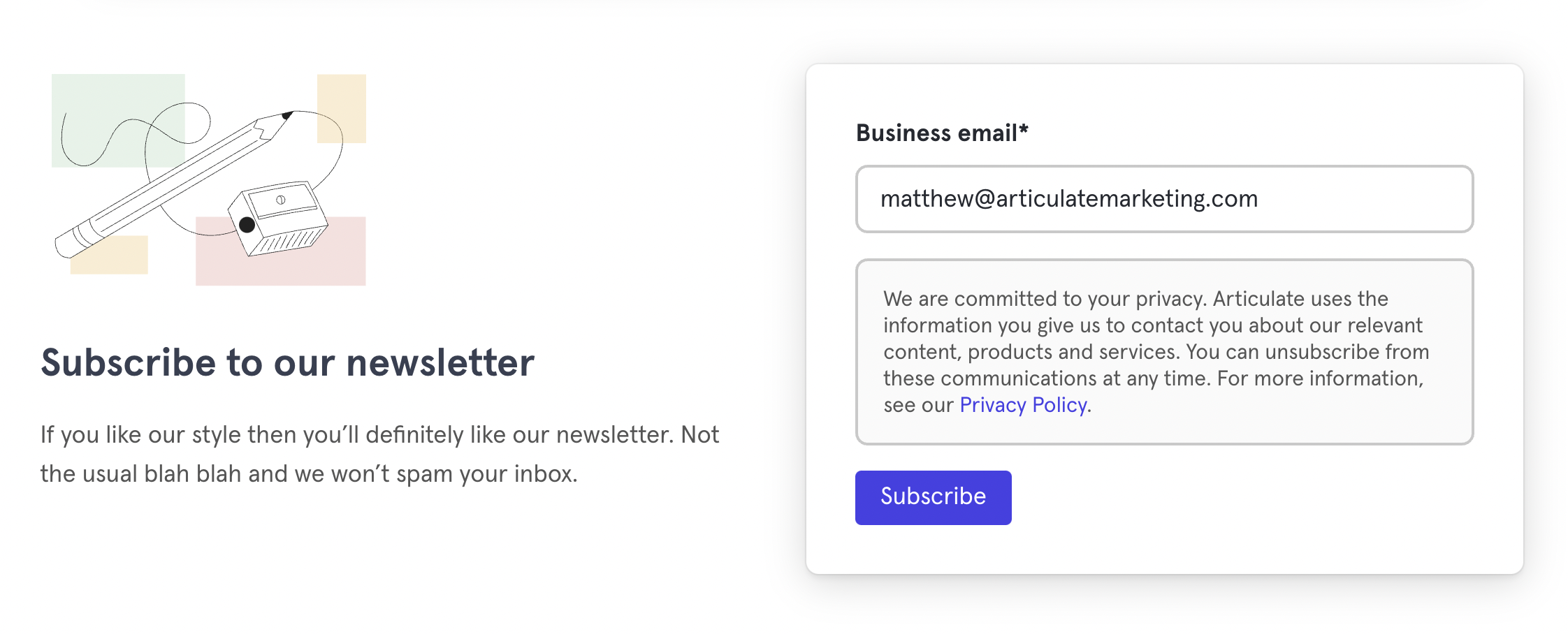 Why your contact page doesn't generate any actual contacts - newsletter subscription