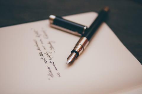 Fountain pen and handwritten letter