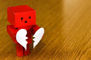 Robot with a broken heart