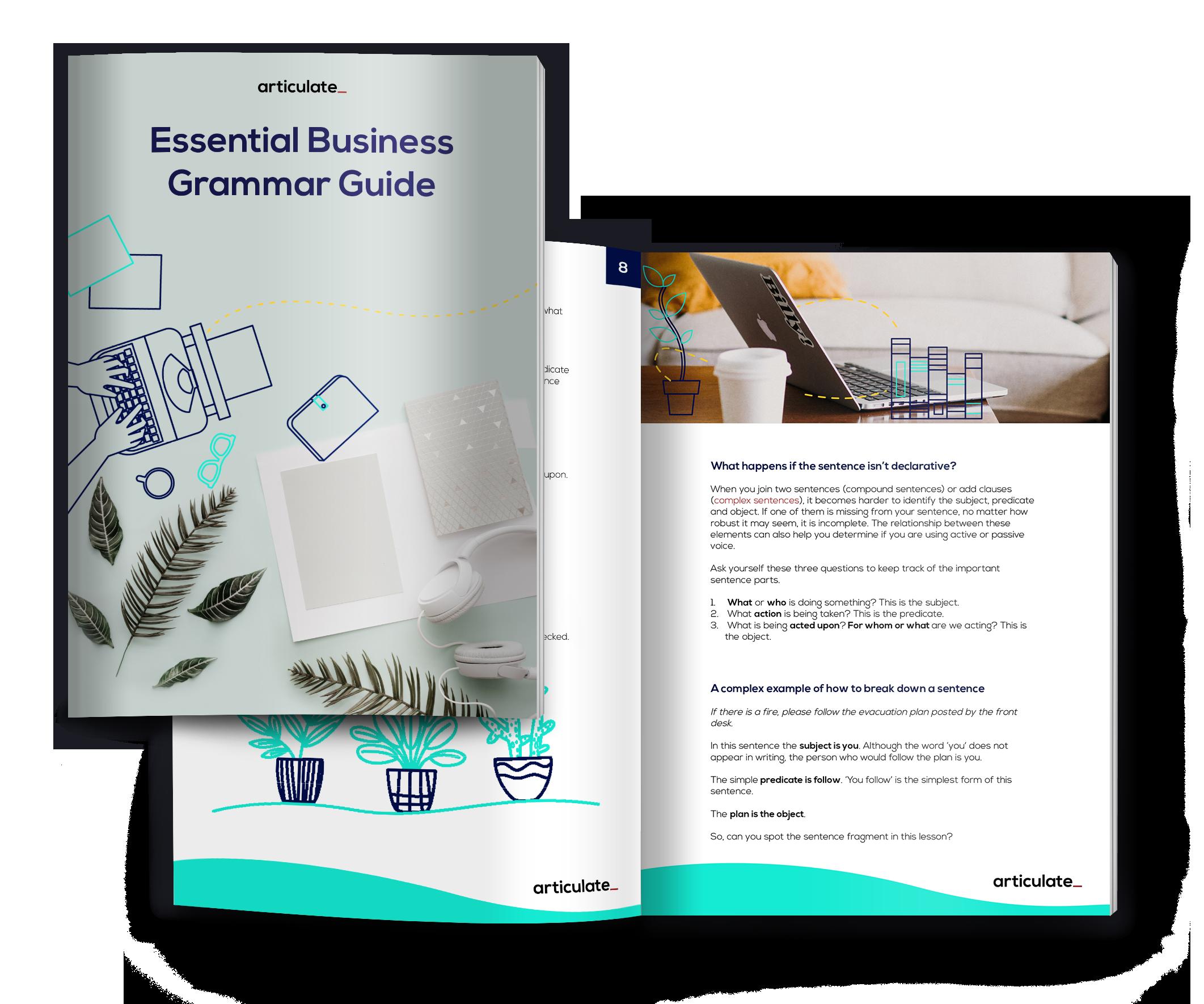 Essential business grammar guide ebook