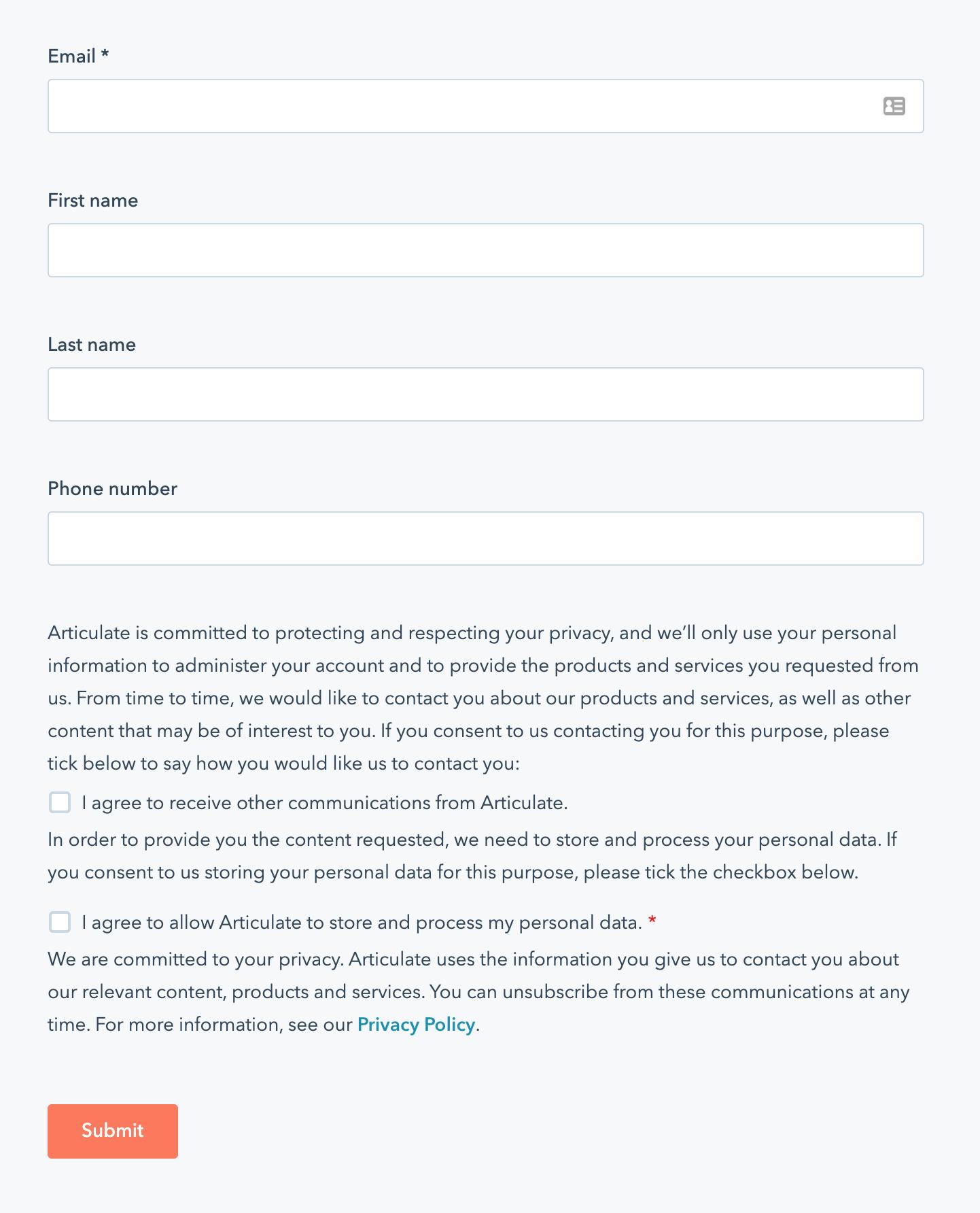 hubspot gdpr compliance 6 forms