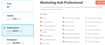 Hubspot Pricing image