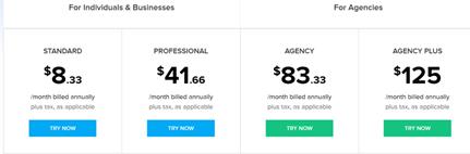 Zoho Social pricing