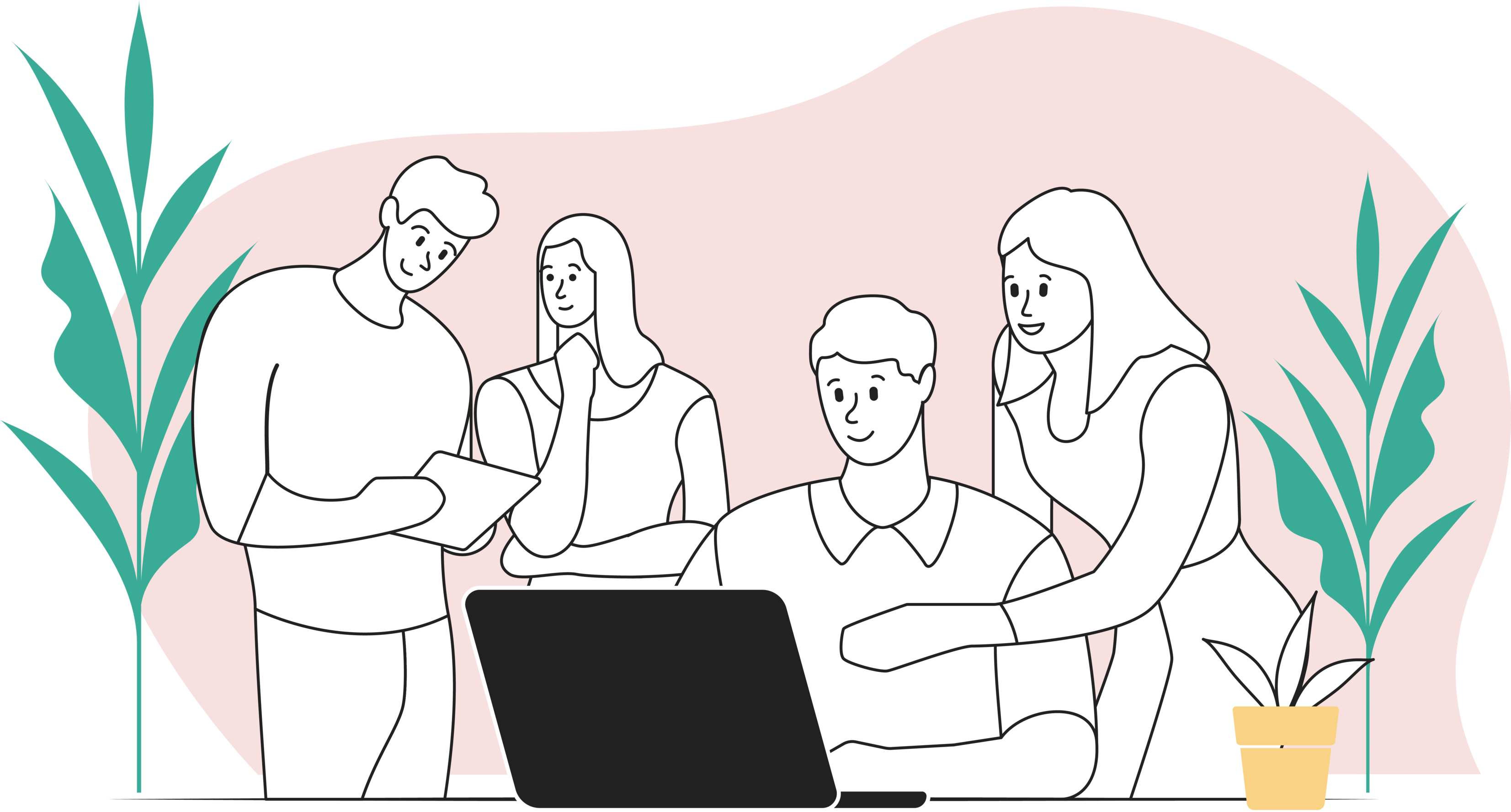 Image of a team of people working collaboratively as a B Corp business