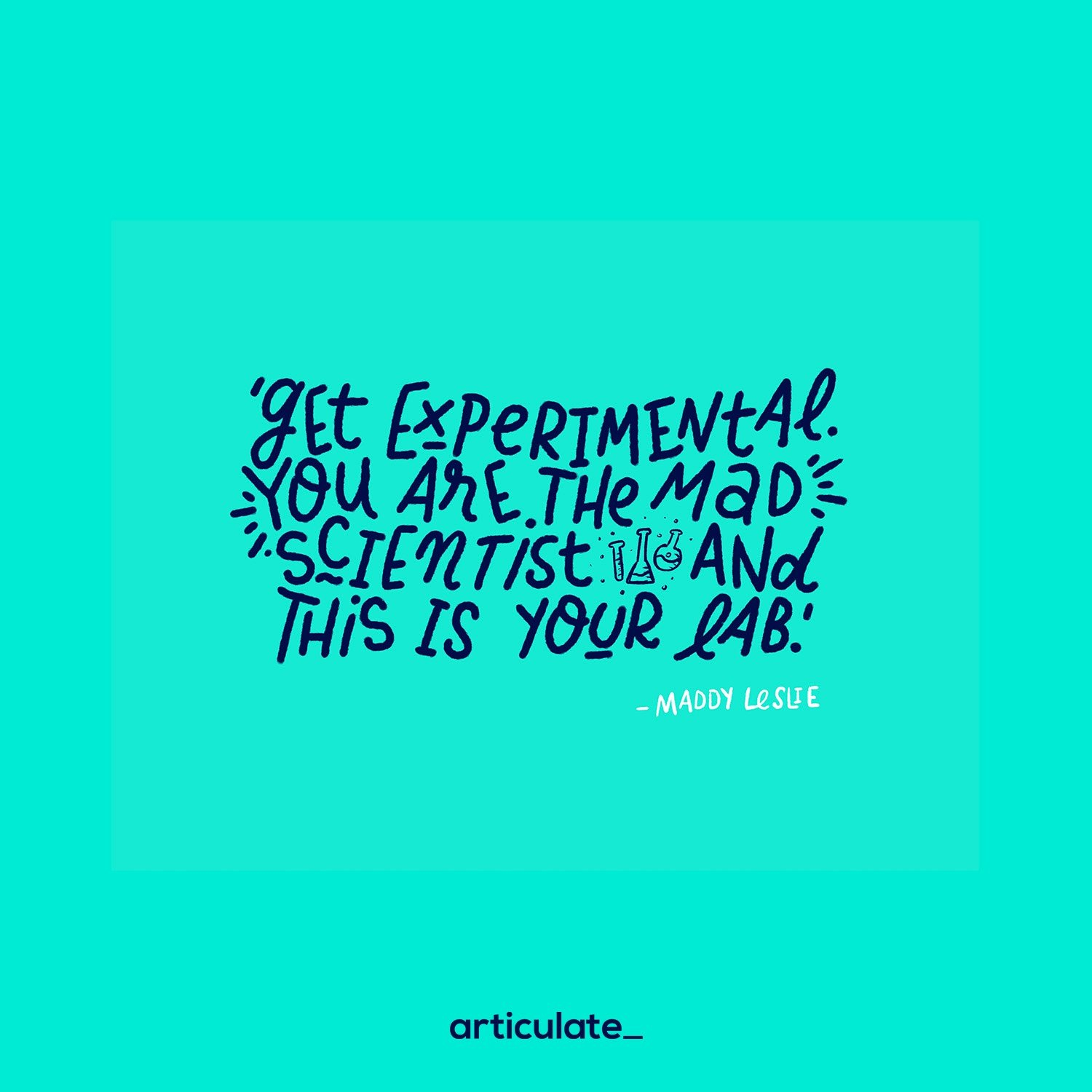 mad scientist quote - B2B content marketing strategy